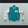 Hooligans 24 K Teal and White Varsity Letterman Jacket-Style Sweatshirt