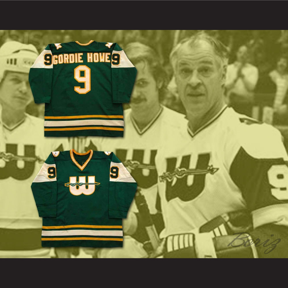 premium selection d2320 51d7a Gordie Howe 9 WHA New England Whalers Hockey Jersey
