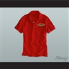 Ricky Bobby Hugalo's Pizza Logo 2 Red Polo Shirt