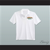 Ricky Bobby Hugalo's Pizza Logo 2 White Polo Shirt
