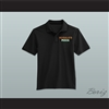 Ricky Bobby Hugalo's Pizza Logo 3 Black Polo Shirt