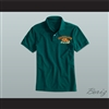 Ricky Bobby Hugalo's Pizza Logo 4 Dark Green Polo Shirt
