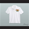 Ricky Bobby Hugalo's Pizza Logo 4 White Polo Shirt