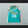 Will Ferrell Flint Tropics 33 Jackie Moon Teal Basketball Jersey Semi Pro