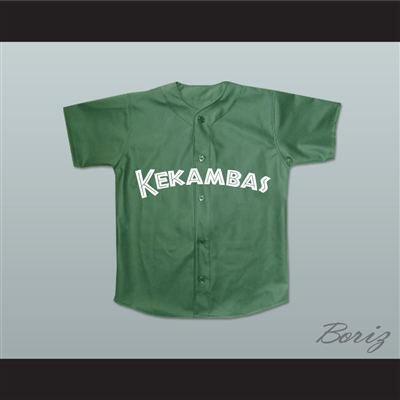 Jefferson Albert Tibbs 11 Kekambas Baseball Jersey Hardball Dark Green New