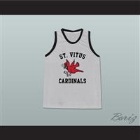 Leonardo DiCaprio Jim Carroll St Vitus Cardinals Grey Basketball Jersey from The Basketball Diaries