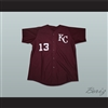 Derek Jeter Kalamazoo Central High School Maroon Giants Baseball Jersey