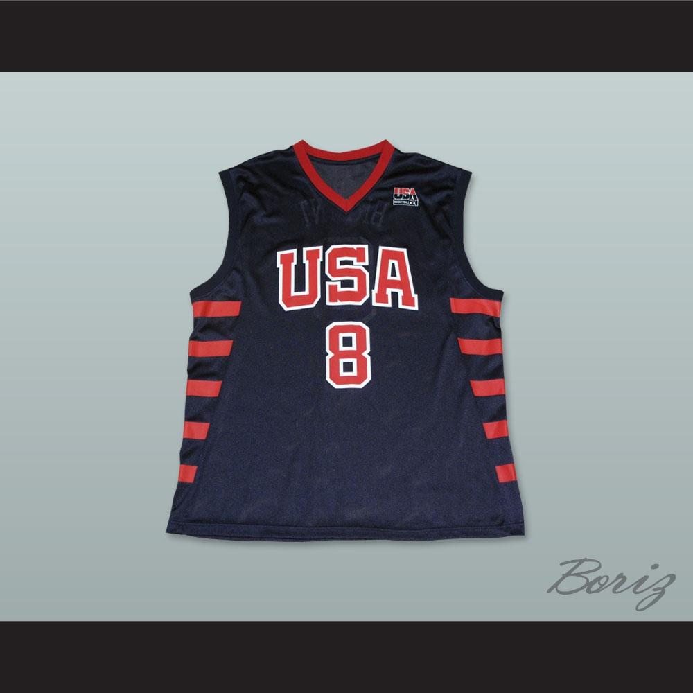 cheap for discount ee266 46e27 Kobe Bryant 8 Team USA Dark Blue Basketball Jersey