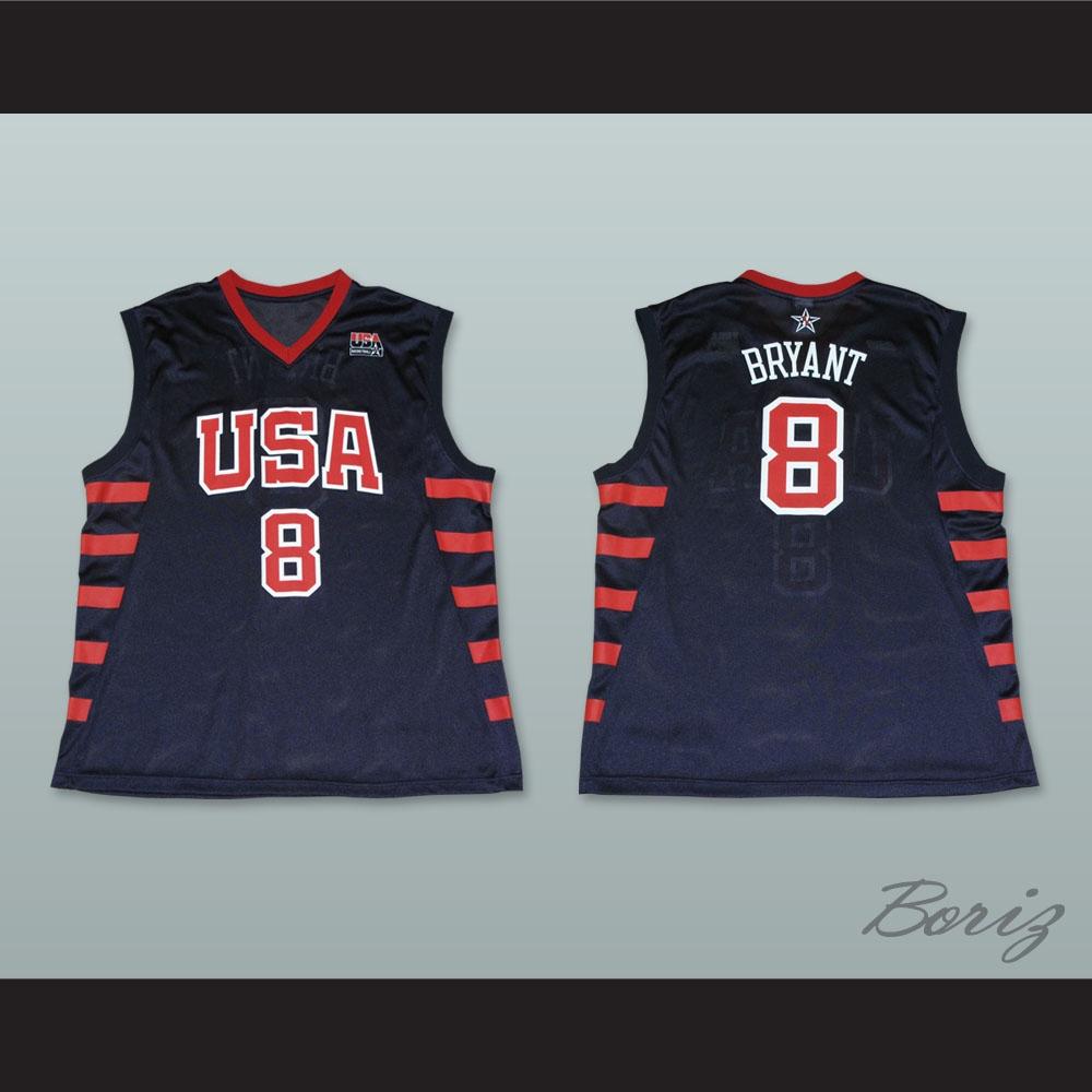 Kobe Bryant 8 Team USA Dark Blue Basketball Jersey