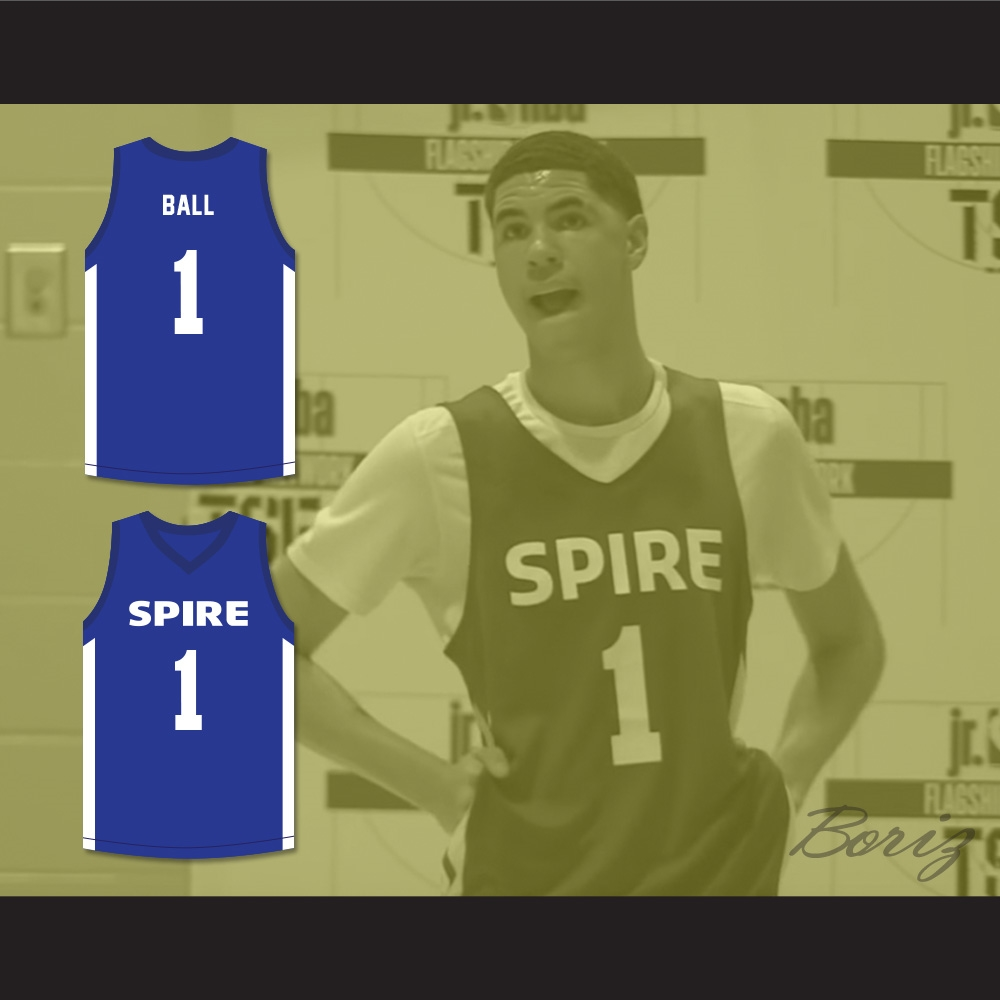 7989b922df0a LaMelo Ball 1 SPIRE Blue Basketball Jersey