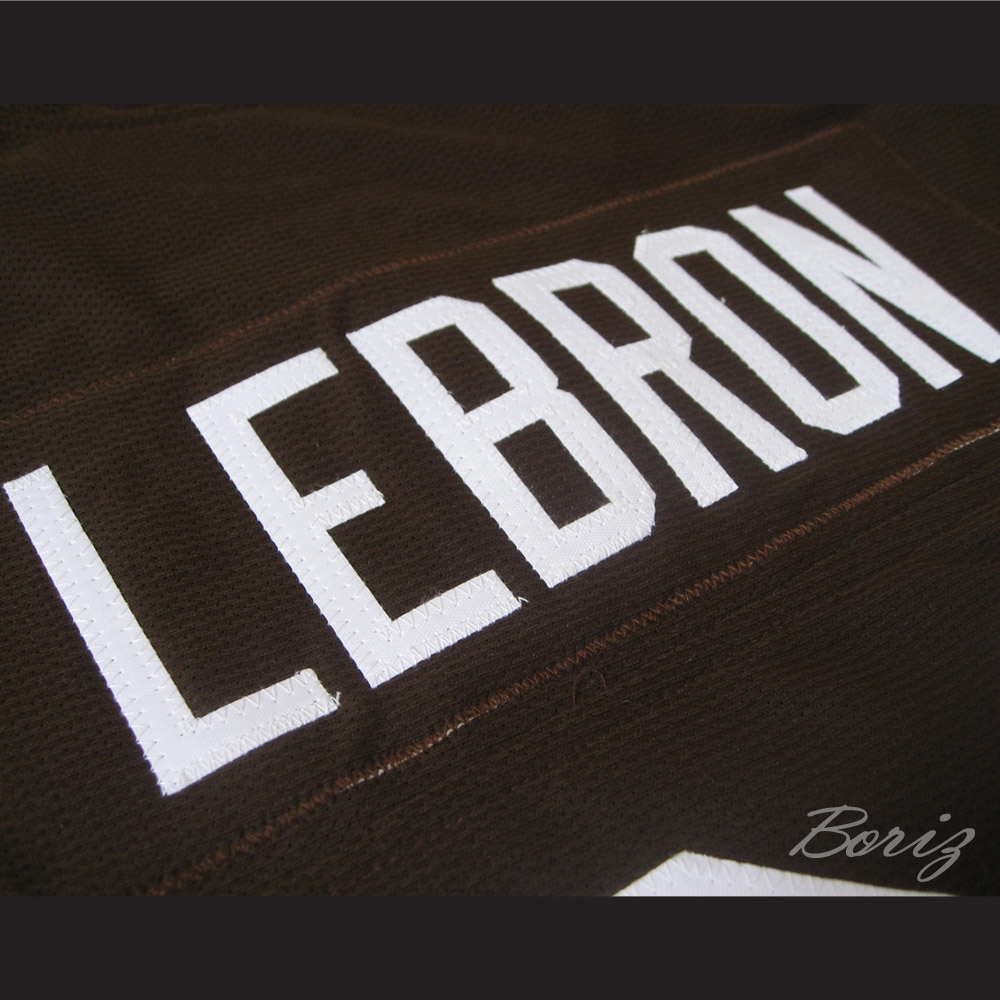 watch 54ed4 6f9c2 Lebron James 23 Football Jersey Reference to Commercial Spoof Career