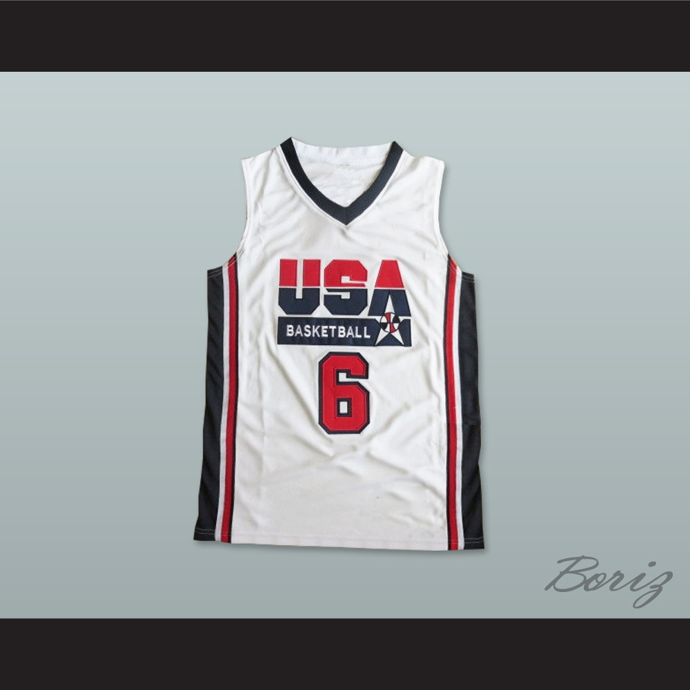 brand new 86720 bd5a1 Lebron James 6 Team USA Basketball Jersey