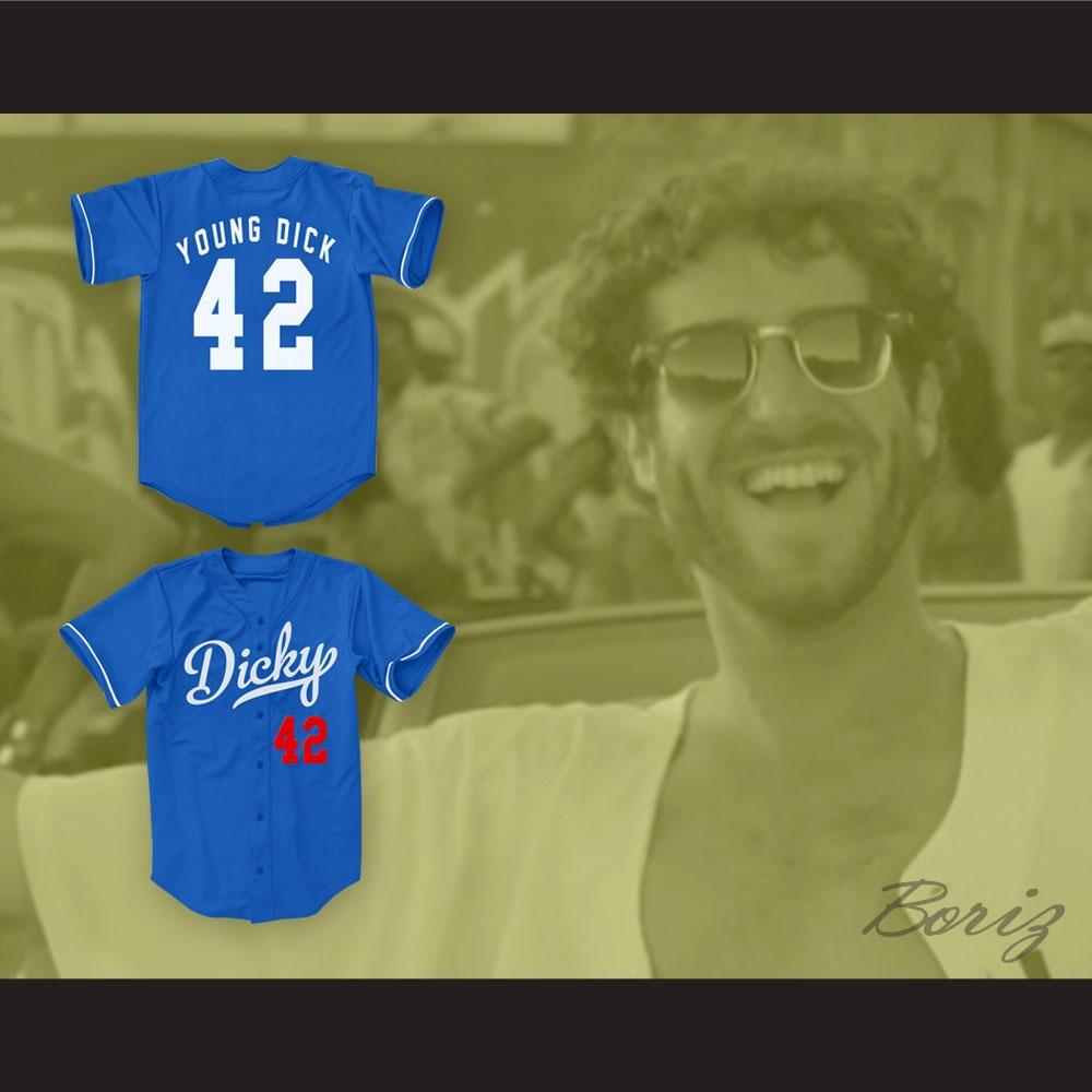 15743752a2f Lil Dicky 42 Blue Baseball Jersey