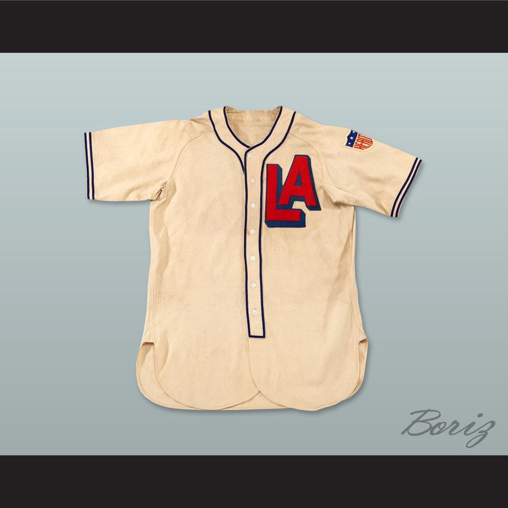 ab4328dd2f08 Arnold Jigger Statz 8 Los Angeles Angels PCL Replica Baseball ...