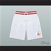 Urkel Family Matters Vanderbilt Muskrats High School White Basketball Shorts with Patch