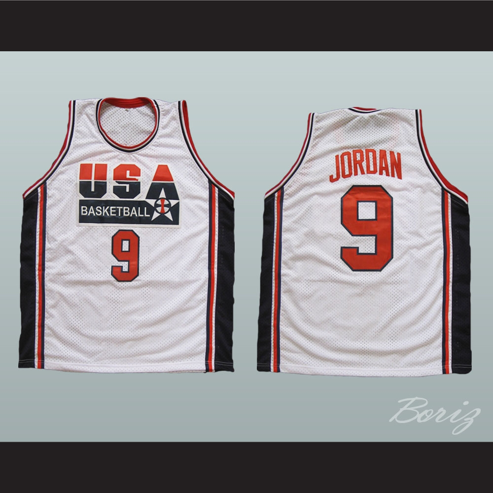 new style 1c8bd c5326 Michael Jordan 9 USA Basketball Jersey