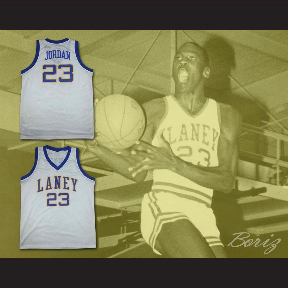 the best attitude e1858 94793 Michael Jordan Laney High School Basketball Jersey New Any Size