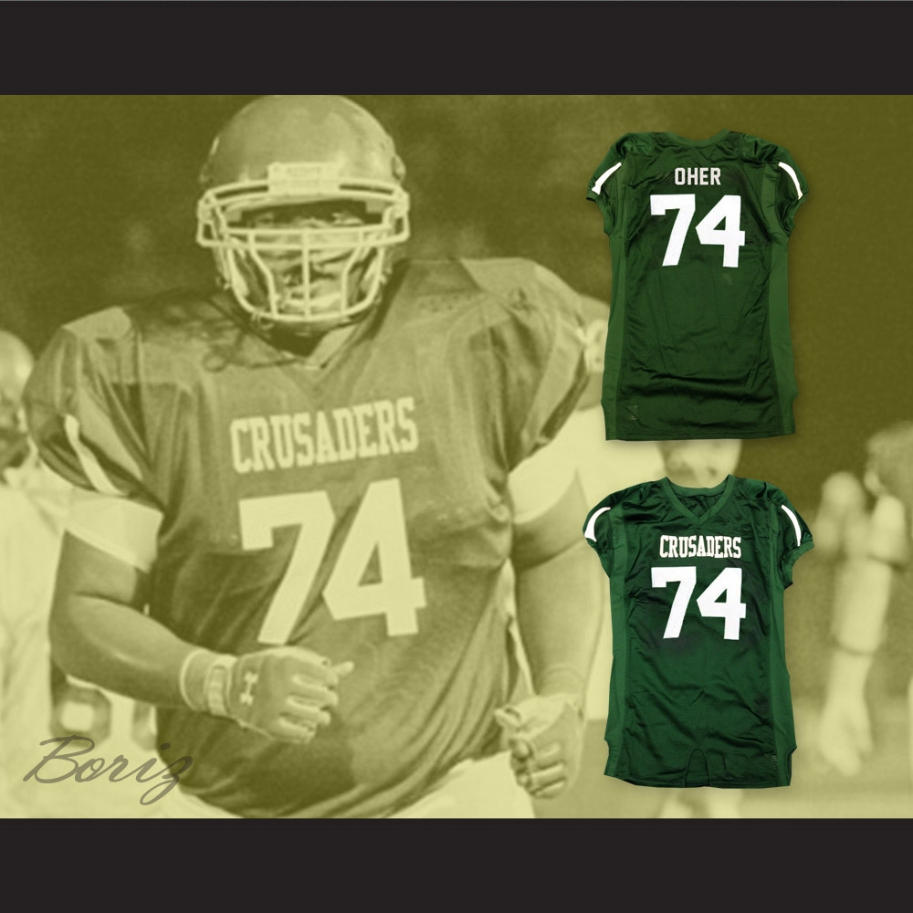 The Blind Side Michael Oher 74 Crusaders High School Football Jersey