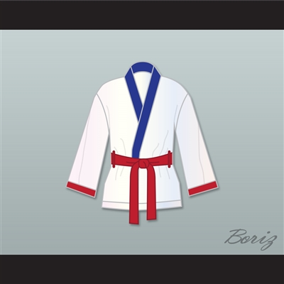 'Irish' Micky Ward White Satin Half Boxing Robe