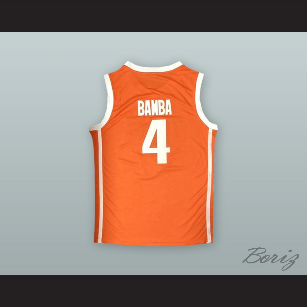 reputable site fe0b0 91d73 Mo Bamba 4 Texas Orange Basketball Jersey