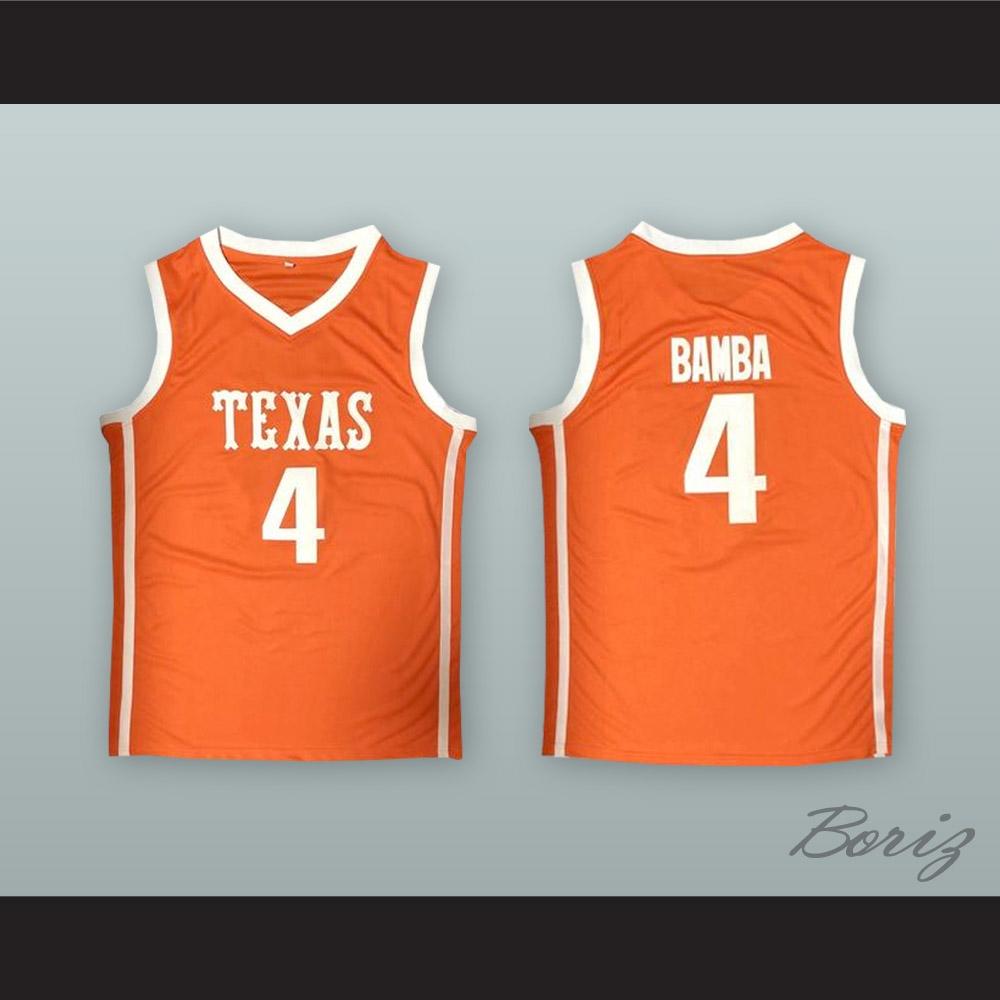 reputable site fbcd2 6e622 Mo Bamba 4 Texas Orange Basketball Jersey
