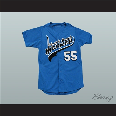 Kenny Powers Eastbound and Down Myrtle Beach Mermen Baseball Jersey New
