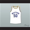 Shaq Neon Boudeaux Western University Basketball Jersey Blue Chips Movie