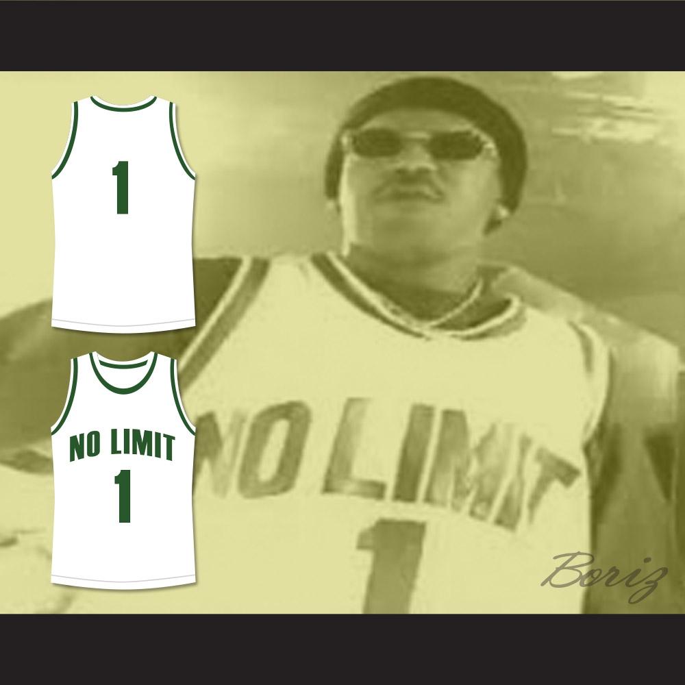 c088bb30c237 Master P 1 No Limit Basketball Jersey White