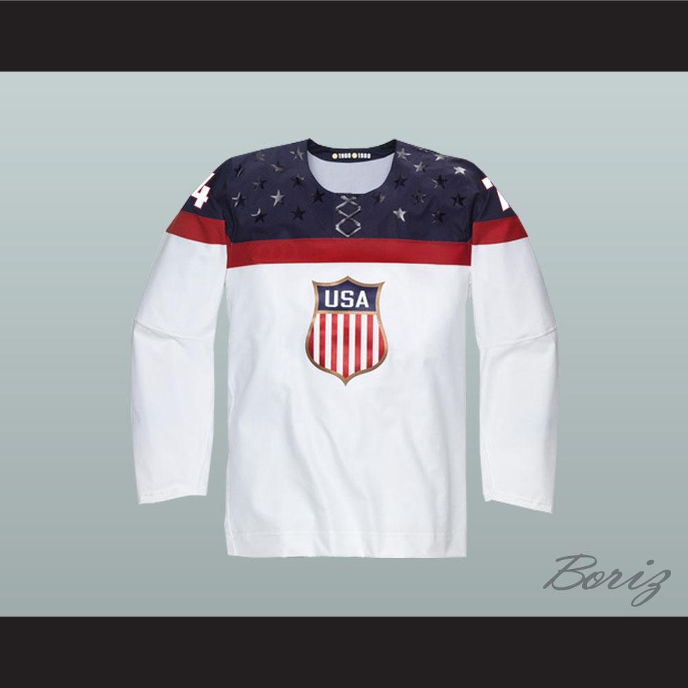 new arrival b07d9 ef40b T.J. Oshie 74 USA National Team Hockey Jersey
