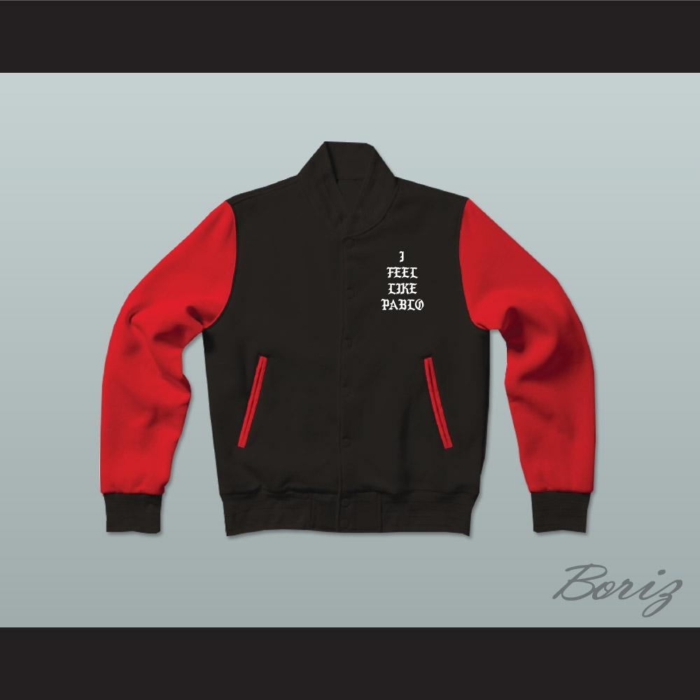 Pablo Escobar I Feel Like Pablo Black Red Varsity Letterman Jacket