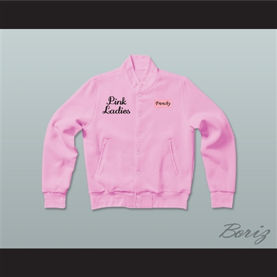 Grease Frenchy Pink Ladies Letterman Jacket-Style Sweatshirt