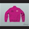 Frenchy Pink Ladies Letterman Jacket-Style Sweatshirt Hot Pink