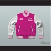 Jan Pink Ladies Letterman Jacket-Style Sweatshirt