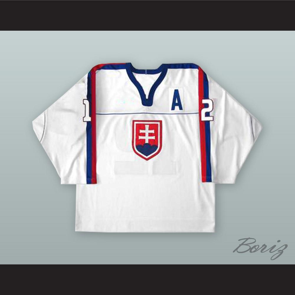 size 40 2a00a 0c7d9 Peter Bondra 12 Slovakia National Team White Hockey Jersey