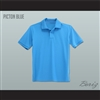 Men's Solid Color Picton Blue Polo Shirt