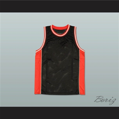 Plain Basketball Jersey Black-Red-White