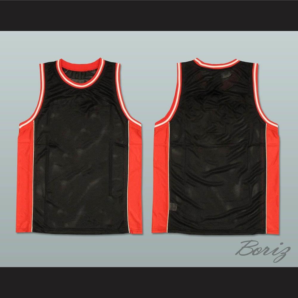 b66bf1653f3 Plain Basketball Jersey Black-Red-White
