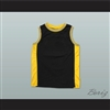 Plain Basketball Jersey Black-Yellow-White