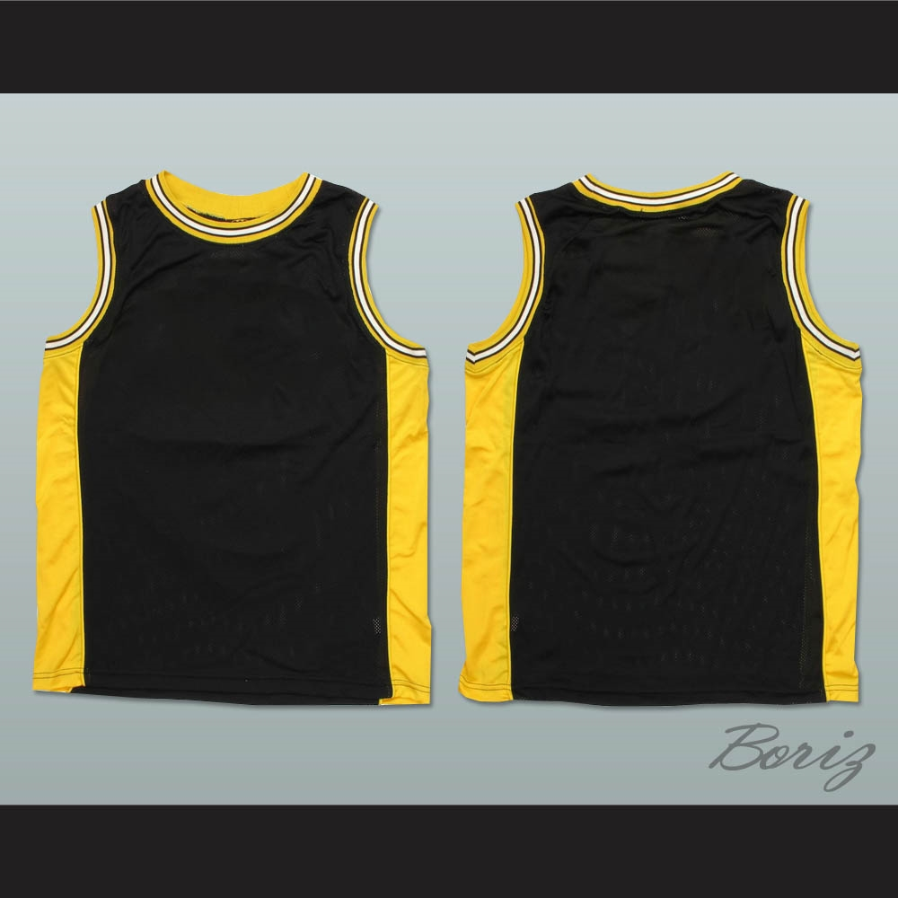 Plain Basketball Jersey Black Yellow White