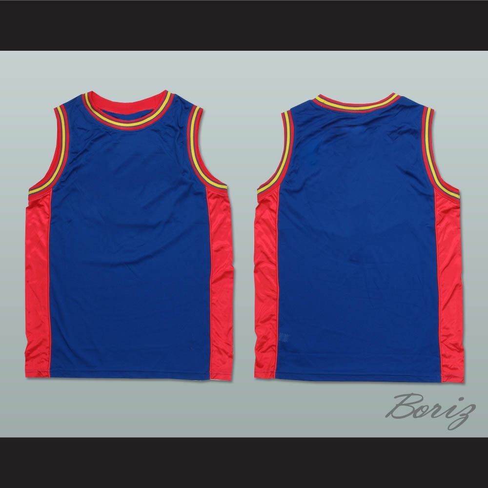 blue basketball jersey