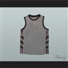 Plain Basketball Jersey Grey-Black-White