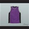 Plain Basketball Jersey Purple-Black-White