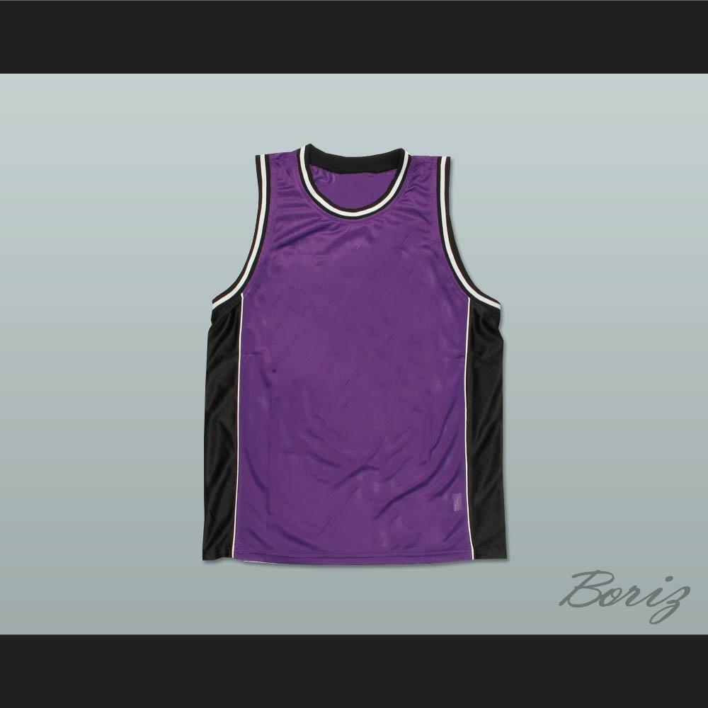 23bad162acd Plain Basketball Jersey Purple-Black-White