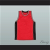 Plain Basketball Jersey Red-Black-White