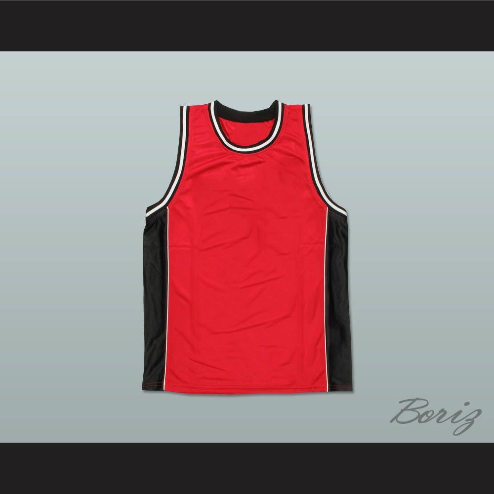 67a8a6fb9b7 Plain Basketball Jersey Red-Black-White