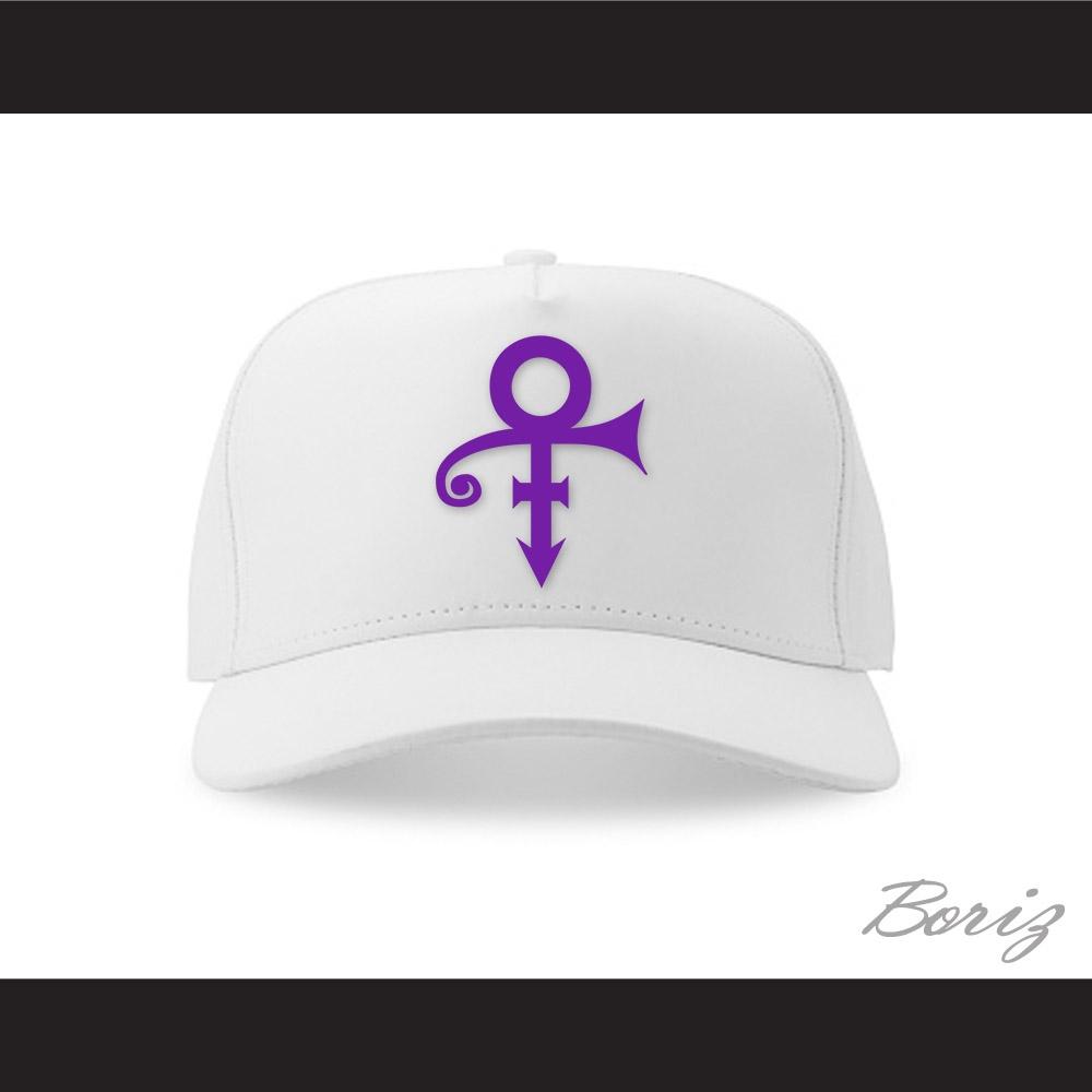 Prince Symbol Whitepurple Baseball Hat
