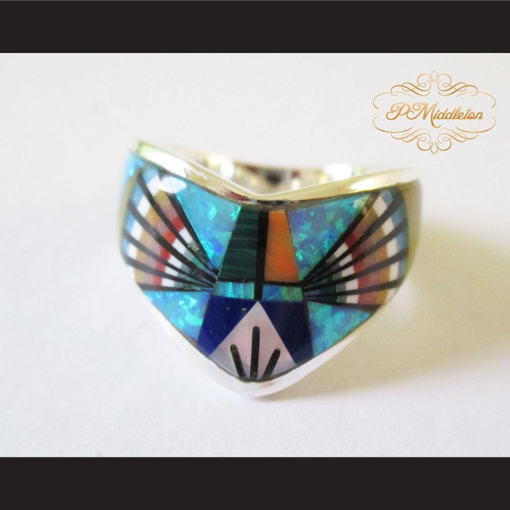 Middleton Radiant Multiple Semi-Precious Stones Ring Sterling ...
