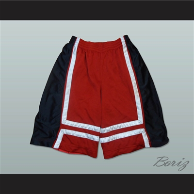 Red Black and White Basketball Shorts