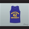 Matt Nover Ricky Roe Western University Basketball Jersey Blue Chips Movie