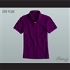 Men's Solid Color Ripe Plum Polo Shirt